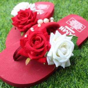Women Mahron White Roses & Pearls Mahron Thin Slipper