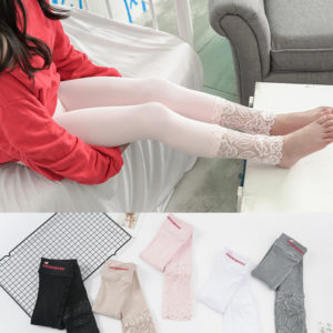 4 Colors 1-10 years Cotton Floral Lace  Quality Tights