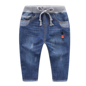 1-7 years Boy Cotton Jeans Easy Waist Pant