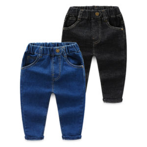 2-7 years Boy Cotton Jeans Star Button Pant
