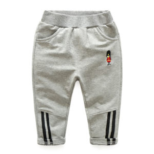 2-7 years Boy Cotton Gray Trouser