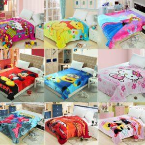 Cartoon Soft & Fluffy Coral Velvet Spring/Autumn Blanket / Bed sheets