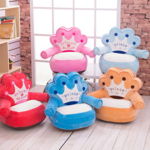 Children Soft Plush  Couch Prince/Princess Sofa Seat