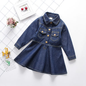 2-10 years Jeans Girl Stylish Frock