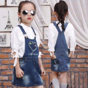 1-5 years Flower Heart Girl Skirt