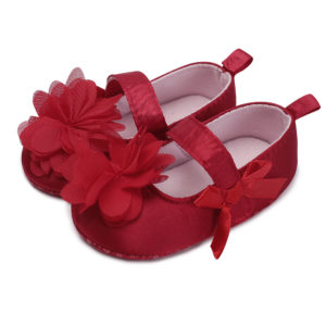 Baby Girl Red Flower Soft Shoes