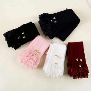 Korean Summer/Spring Children's thin girls Lace Tights