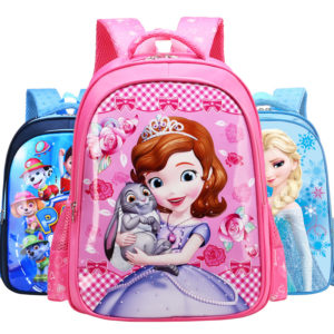 3-5 years kids imported High Quality Cartoon Kids School Sofia Bags