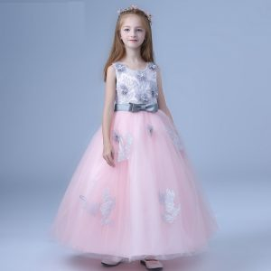 4-10 years imported Peach Gray Gown Decent Gown