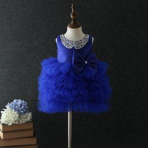 1-5 years Ruffle Royal Blue Frock