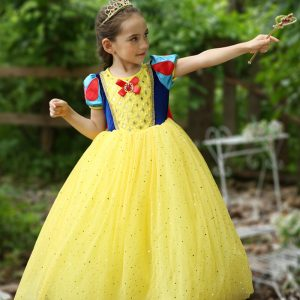 3-10 years Girl Snow White Gown