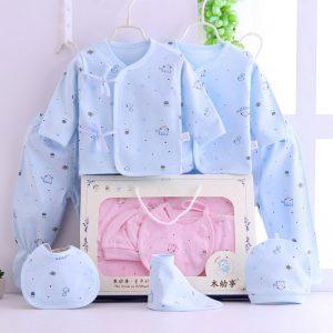 7 Pcs Organic Cotton New Born baby Gift Box Set 0-3 months