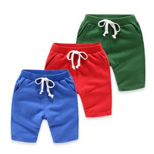 1-5 years Boy Solid Colors Cotton Summer Shorts