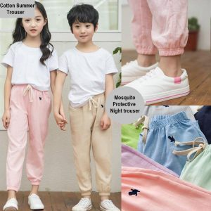 2-7 years kids Cotton Summer Mosquito Protective Night sleeping Trouser