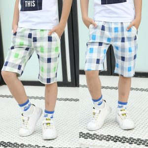 4-12 years Boys Cotton Cool Colors Check Shorts