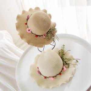 Mother  Daughter  Wild flower Summer Hat