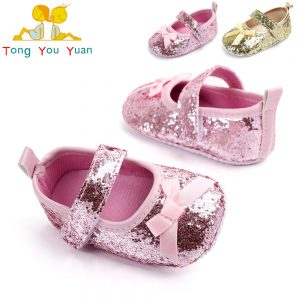 Baby Girl Bow Shimmer Soft Winter Shoes