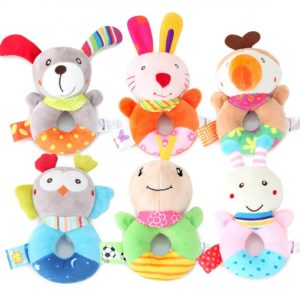 Baby Plush Toys Cute Cartoon Animals Rattle Baby Comfort Toys Mother and Baby supplies