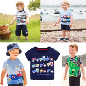 0-6 years kids Cotton Short Sleeves Quality Attractive Trendy Prints Shirt
