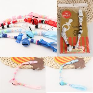 Cute Baby anti-drop with soothing play mouth anti-lost beaded Teether  Nipple  pacifier chain clip