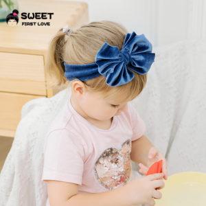 Velvet baby Large Size Velvet Bow Hairband / Headband