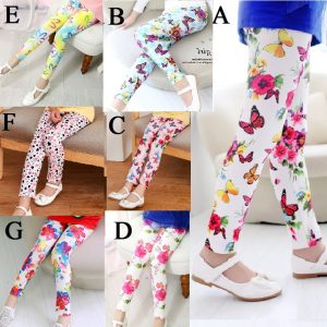 girl printed summer trousers